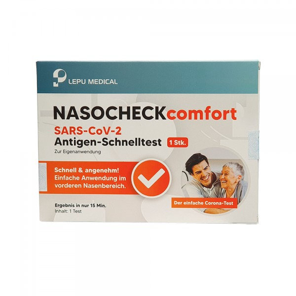 Covid-19 Antigen-Nasentest Lepu, zur Eigenanwendung, 1 Stück Einzelverpackt